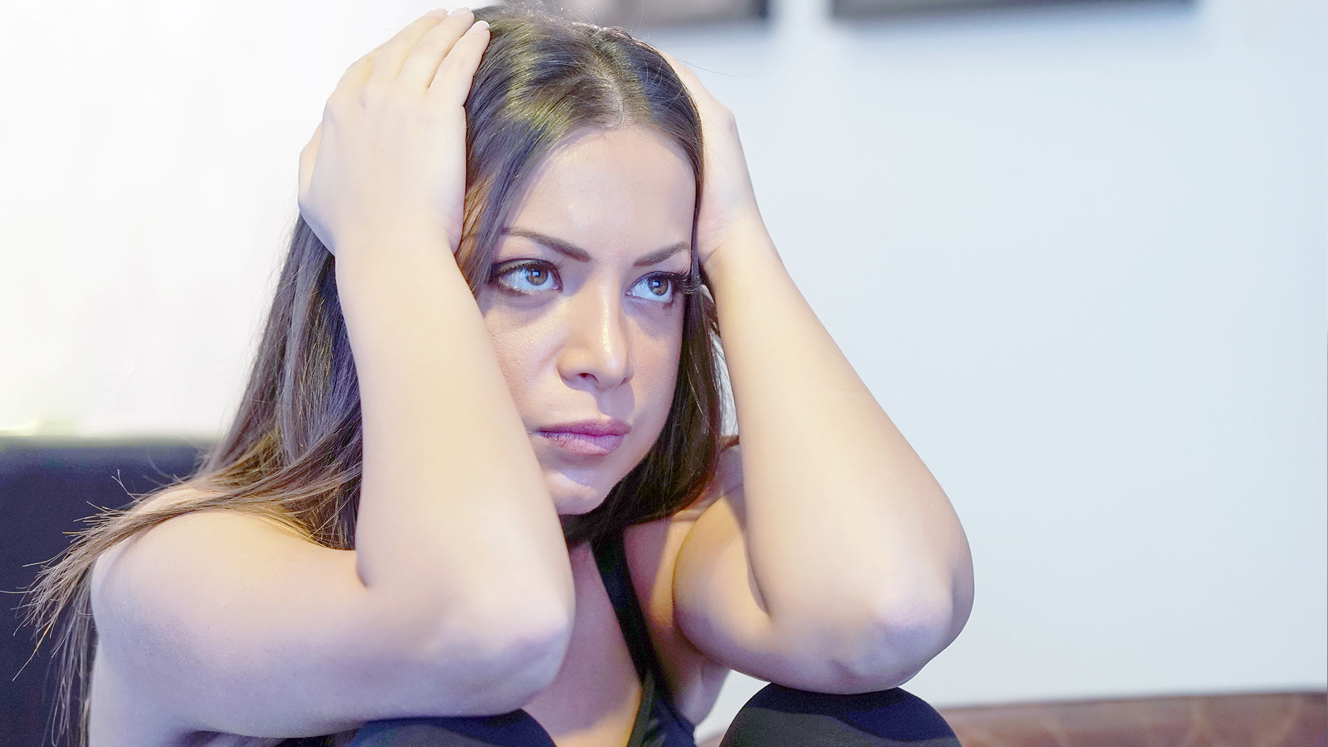 Stressed Woman Younger